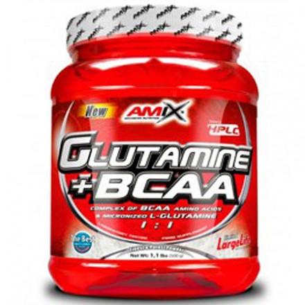 GLUTAMINA + BCAA 500GR