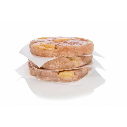 5 hamburguesas de pollo con piña