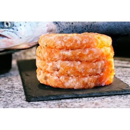 4 hamburguesas de salmón fresco