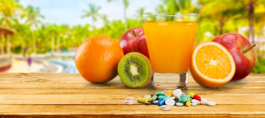 Vitaminas, minerales, antioxidantes y cosméticos naturales.
